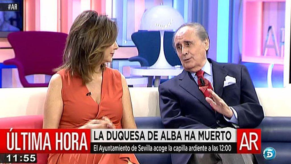 """J. Peñafiel: """"Al final, los hijos de Cayetana han reconocido lo que ha significado Alfonso en su vida"""""""