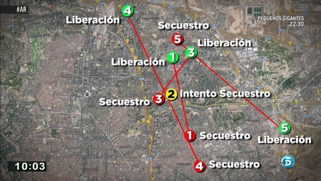 La cronología de los cuatro secuestros del pederasta de Ciudad Lineal