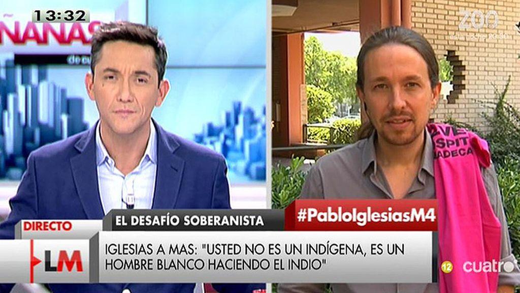 """Pablo Iglesias: """"Algunos solo quieren que hablemos de banderas pero no van a contar con nosotros para eso"""""""
