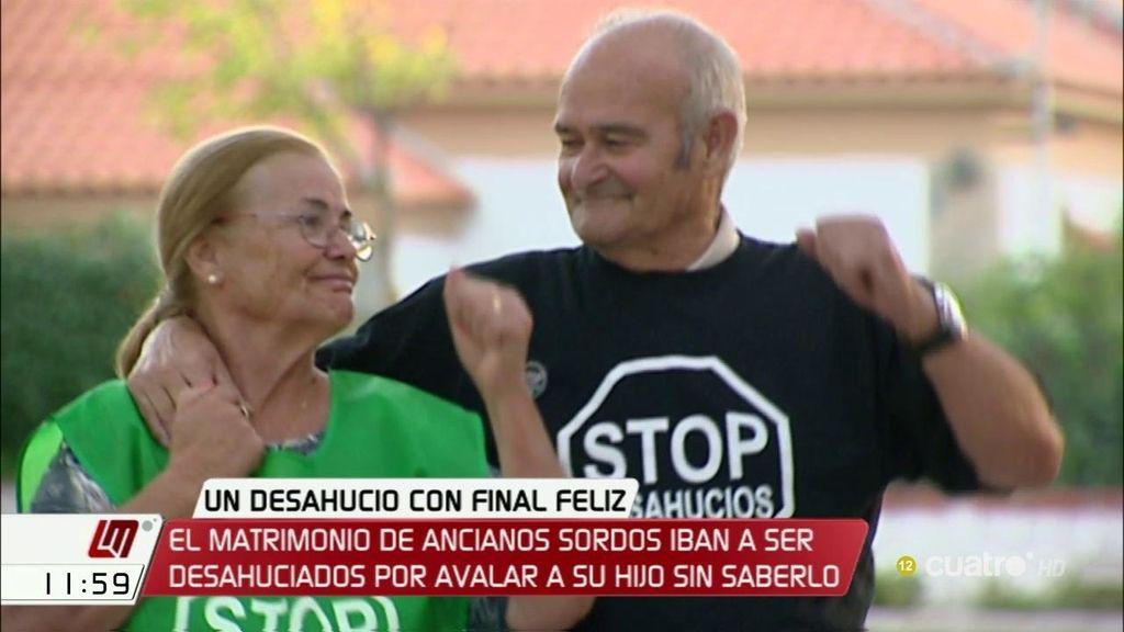 Bankia paraliza el desahucio de dos ancianos sordos engañados por su hijo