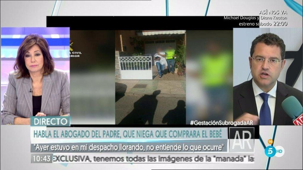 """Carlos Aránguez, abogado: """"Mi cliente no pagó por tener a su propia hija"""""""