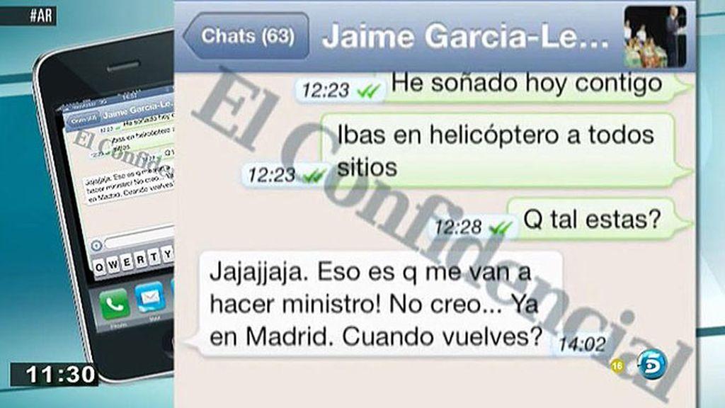 Los mensajes de F. Nicolás y García Legaz evidencian su estrecha relación