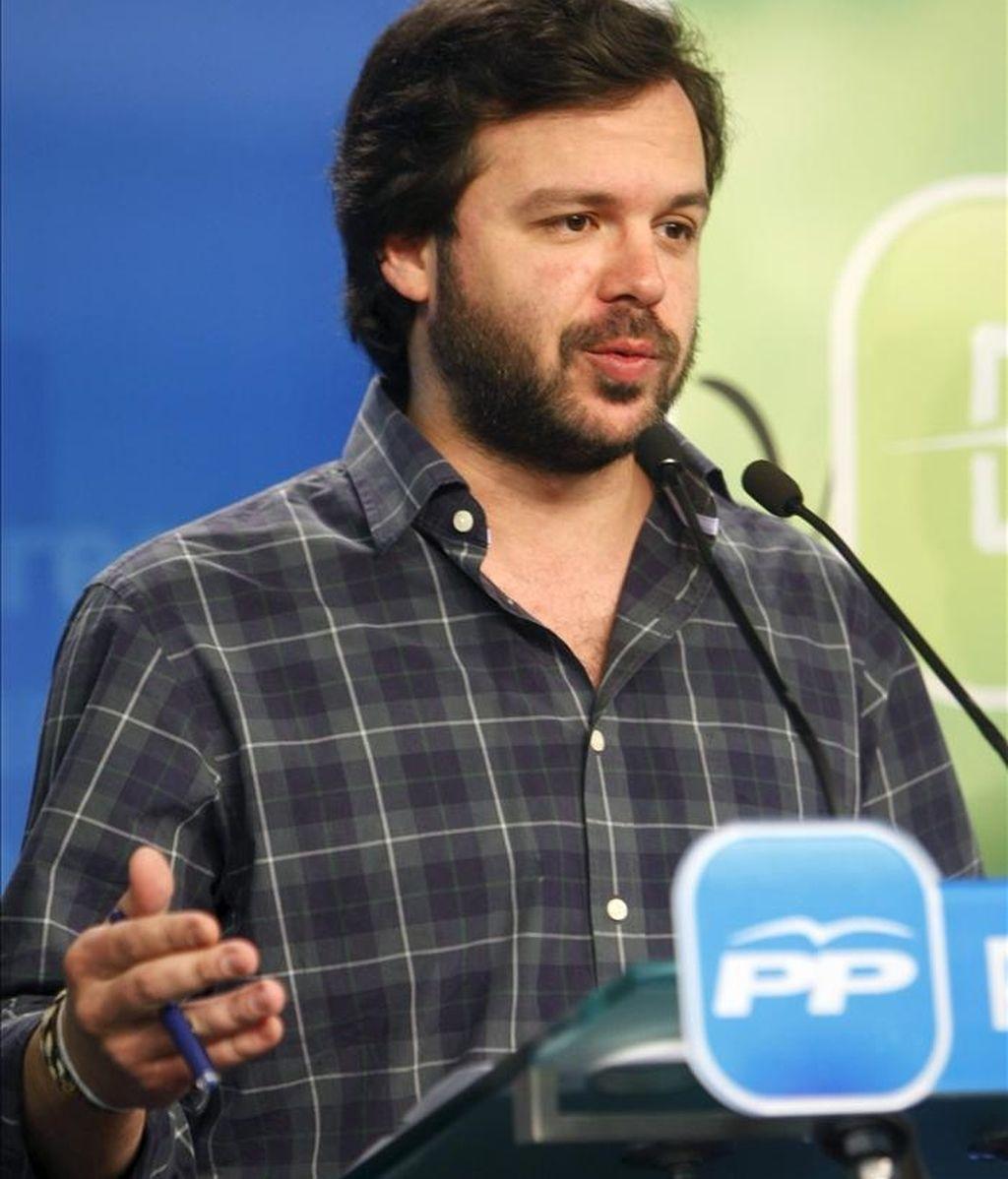 El actual presidente de Nuevas Generaciones, Nacho Uriarte. EFE/Archivo