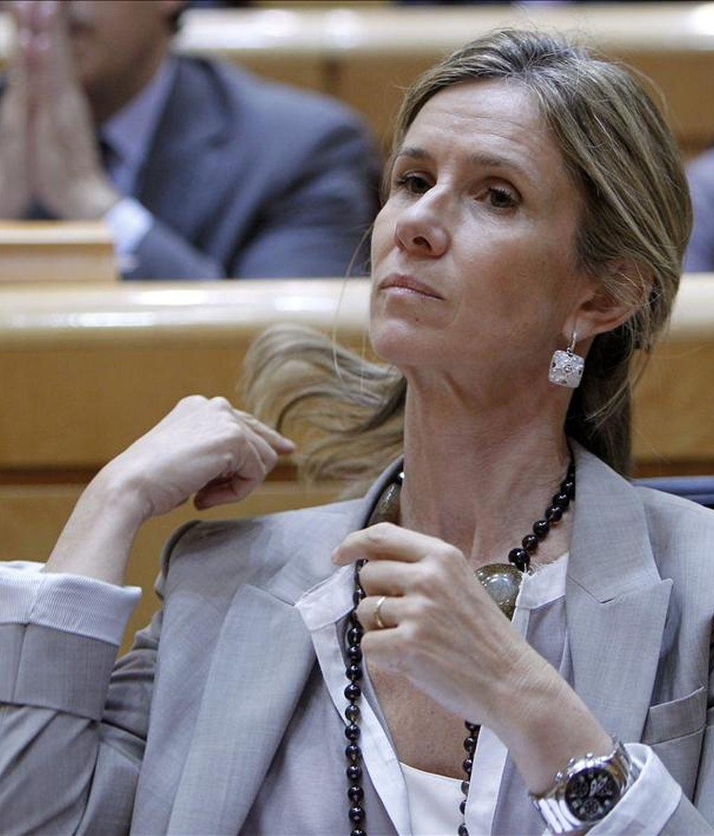 La ministra de Ciencia e Innovación, Cristina Garmendia, durante un pleno en el Senado. EFE/Archivo