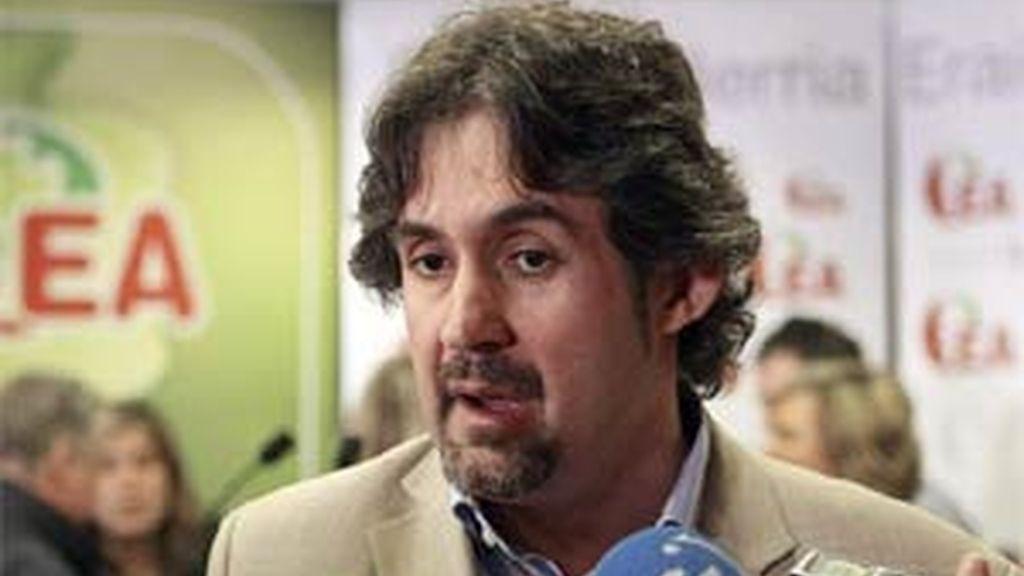 El secretario general de EA, Peio Urizar. EFE/Archivo