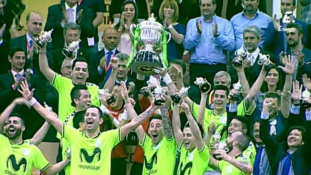 ¡Inter Movistar levanta la Copa de campeón de Copa del Rey de fútbol sala!