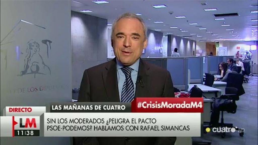 """Rafael Simancas: """"El conflicto interno de Podemos no debiera obstaculizar el acuerdo al que hemos de llegar"""""""