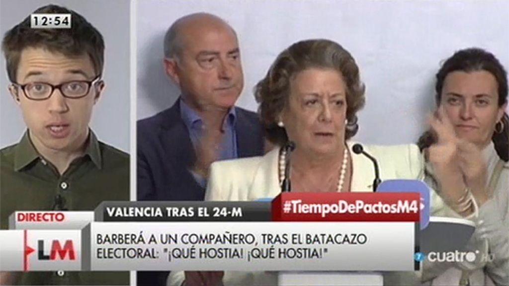 """Íñigo Errejón: """"El Partido Popular ha sufrido un cataclismo electoral"""""""