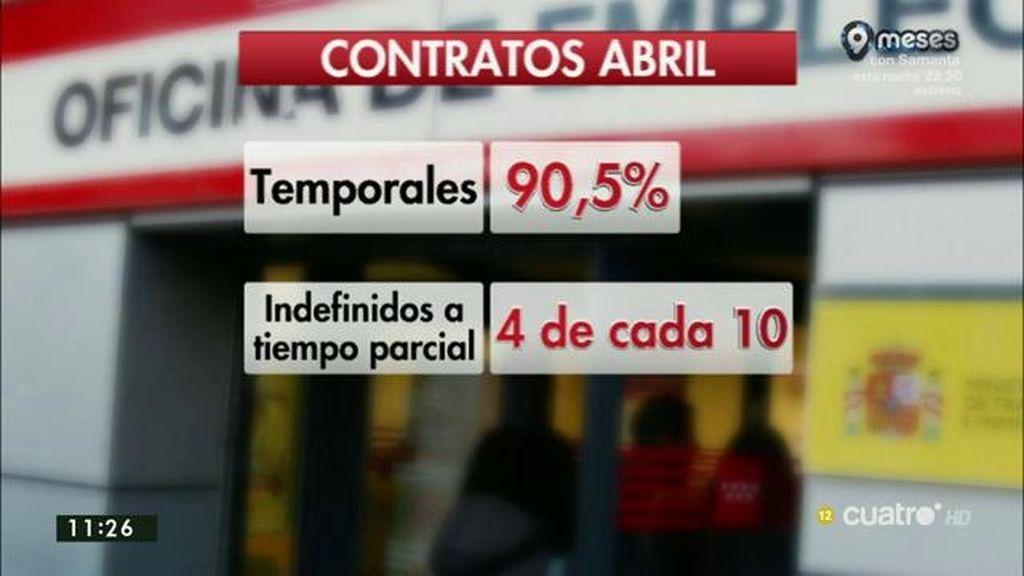 El paro baja en 83.599 personas en abril