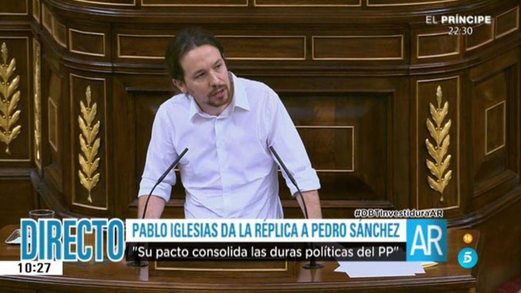 """Iglesias: """"Ha sido mencionar a Millán Astray y el señor Girauta se ha puesto nervioso"""""""