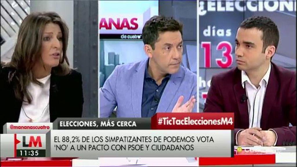 """Yolanda Díaz (En Marea): """"La camisa de fuerza que el PSOE se ha incorporado con Ciudadanos es inviable"""""""