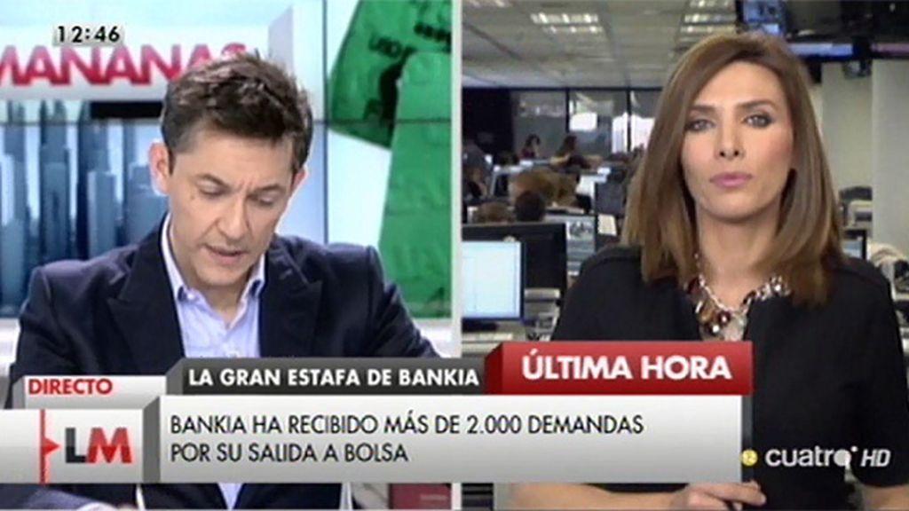 Bankia ha recibido 2.424 demandas por 70 millones por la salida a bolsa