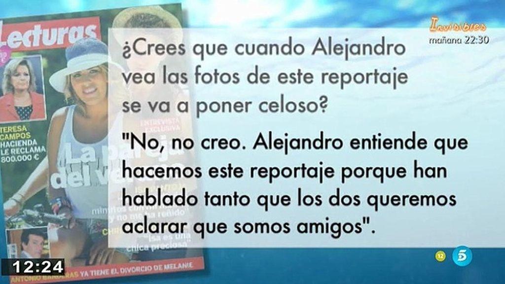 """Chabelita: """"Mi relación con Alejandro es supercerrada"""""""