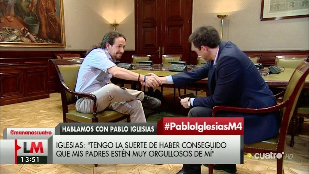 La entrevista de Iglesias, a la carta
