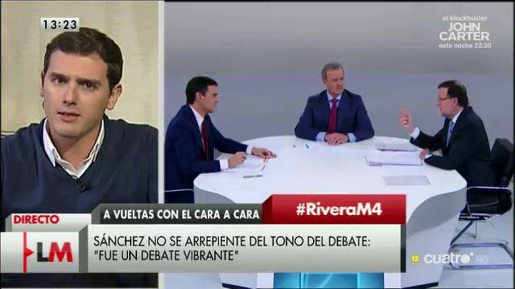 """Albert Rivera: """"Los debates no se ganan insultando, se ganan proponiendo"""""""