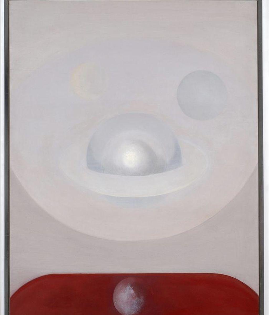 Fotografía facilitada por el Museo de Teruel de un óleo sobre tabla, sin título, de 116 x 88 cms, realizado por el Salvador Victoria en 1971, una de las obras que forman parte de la donación de su viuda a esta pinacoteca, que se exponen se exponen a partir de hoy en este centro. EFE