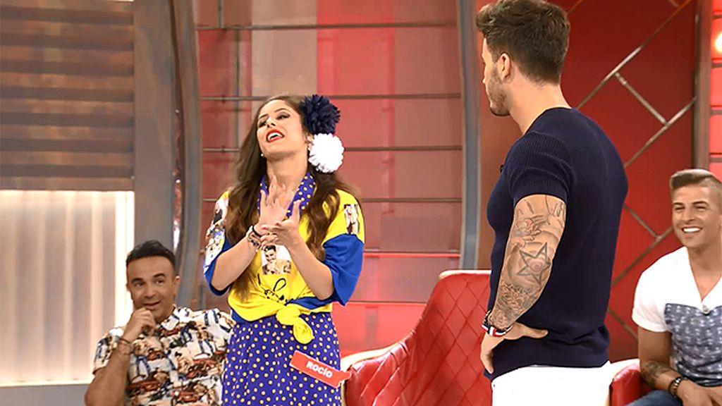 Rocío se marca una chirigota muy flamenca