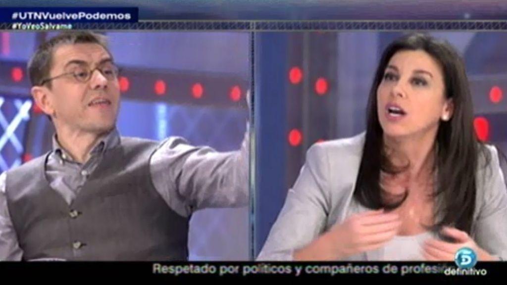 """Monedero acusa a Arenales y se enzarzan: """"¡Nos veremos en los tribunales!"""""""
