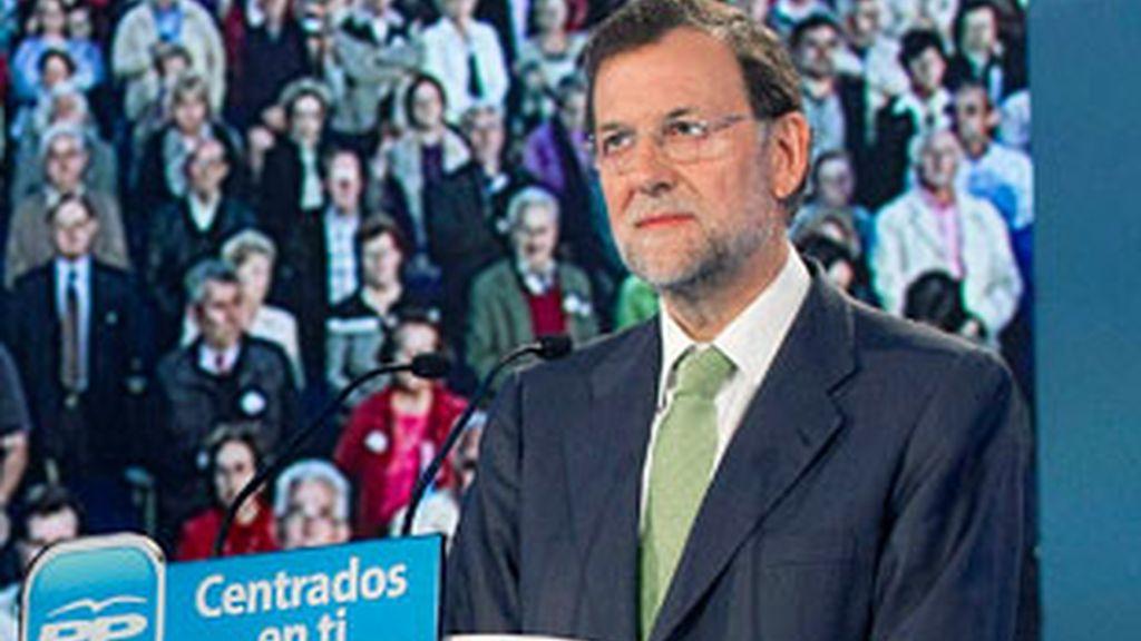 Mariano Rajoy en un acto de campaña. Foto: EFE