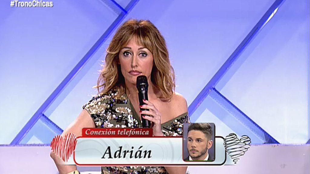 """Adrián se sincera con Emma García: """"Yo estoy enamorado y no quiero el trono"""""""