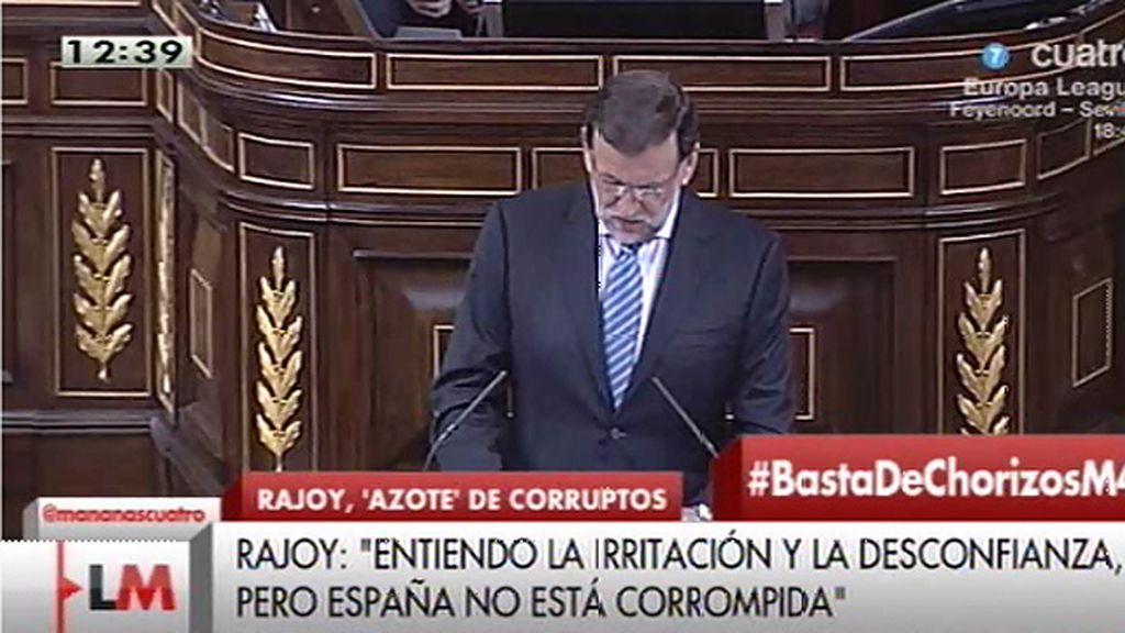 """Rajoy: """"España no está corrompida, tiene algunos corruptos que están saliendo a la luz"""""""