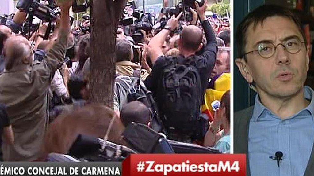 """Monedero, sobre la polémica con Zapata: """"Aquí hay una suerte de 'tamayazo' indirecto"""""""