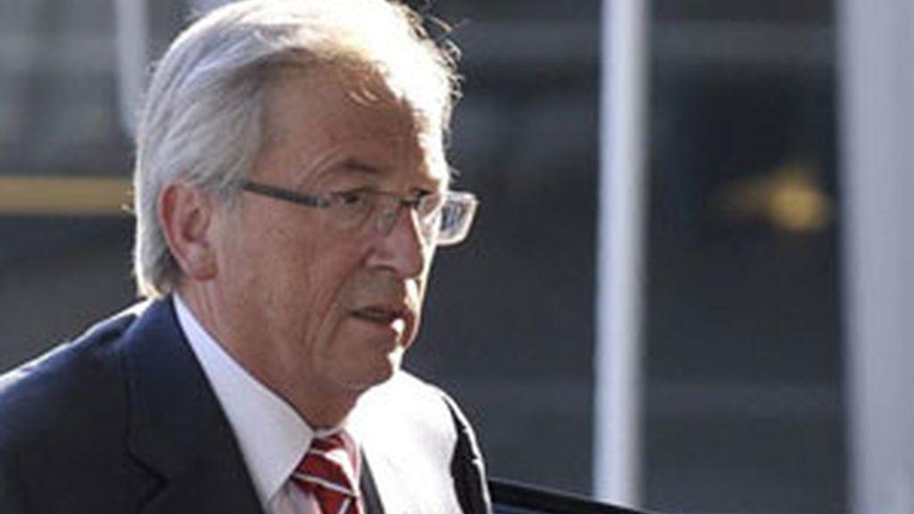 El presidente del Eurogrupo, Jean-Claude Juncker, llega a la reunión. Vídeo: Informativos Telecinco