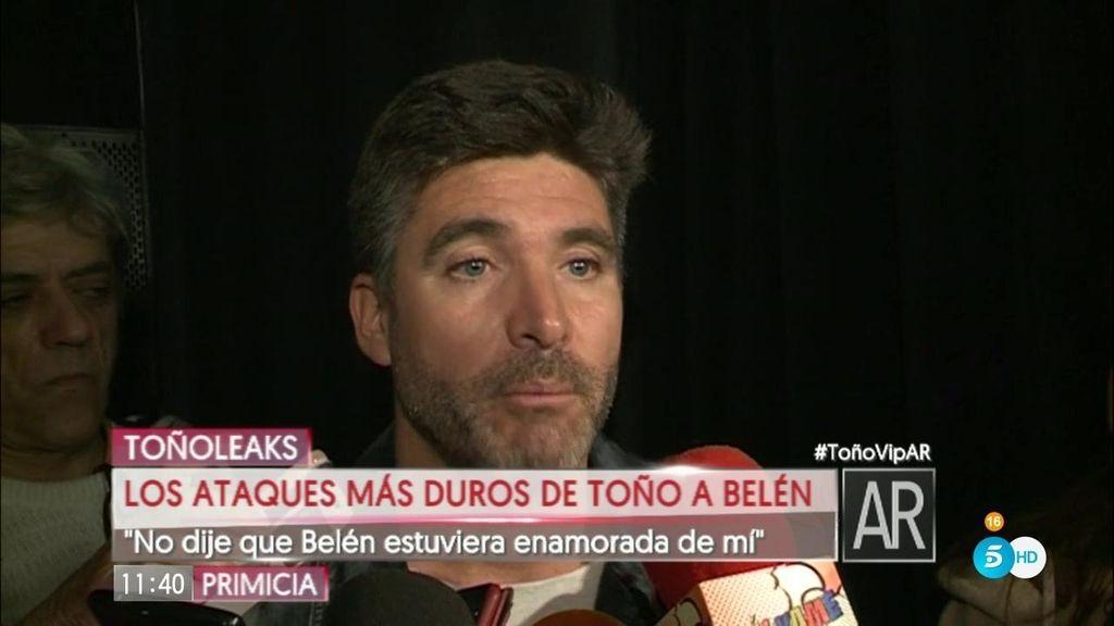 """Toño Sanchís, de Belén Esteban: """"Da asco cómo habla esa señora de mí"""""""