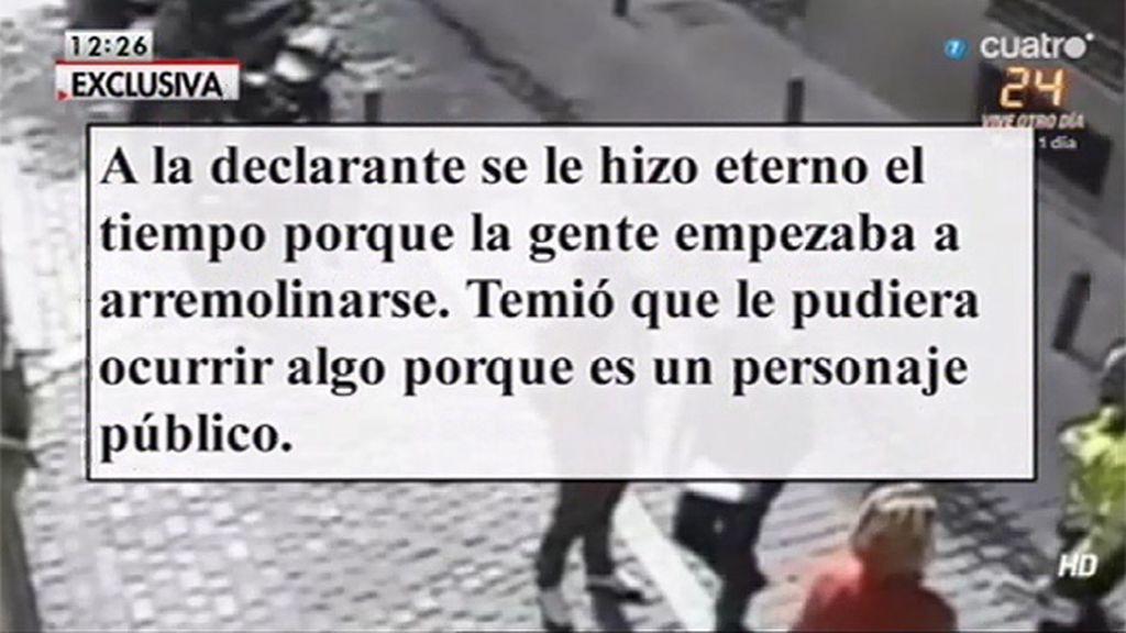 En exclusiva, la declaración de Aguirre
