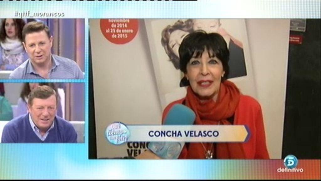 Concha Velasco, madrina de 'Los Morancos'