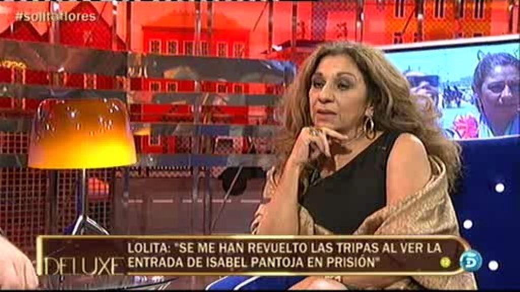 """Lolita: """"Me ha dado mucha cosa ver entrar a Isabel Pantoja en la cárcel"""""""