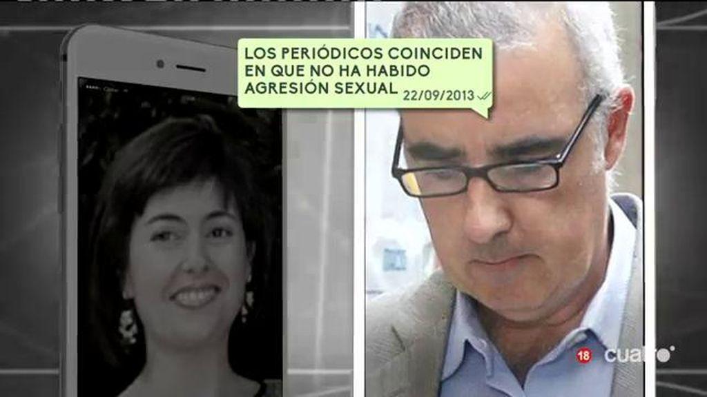 Nerviosismo en los mensajes entre Rosario Porto y Alfonso horas después del crimen