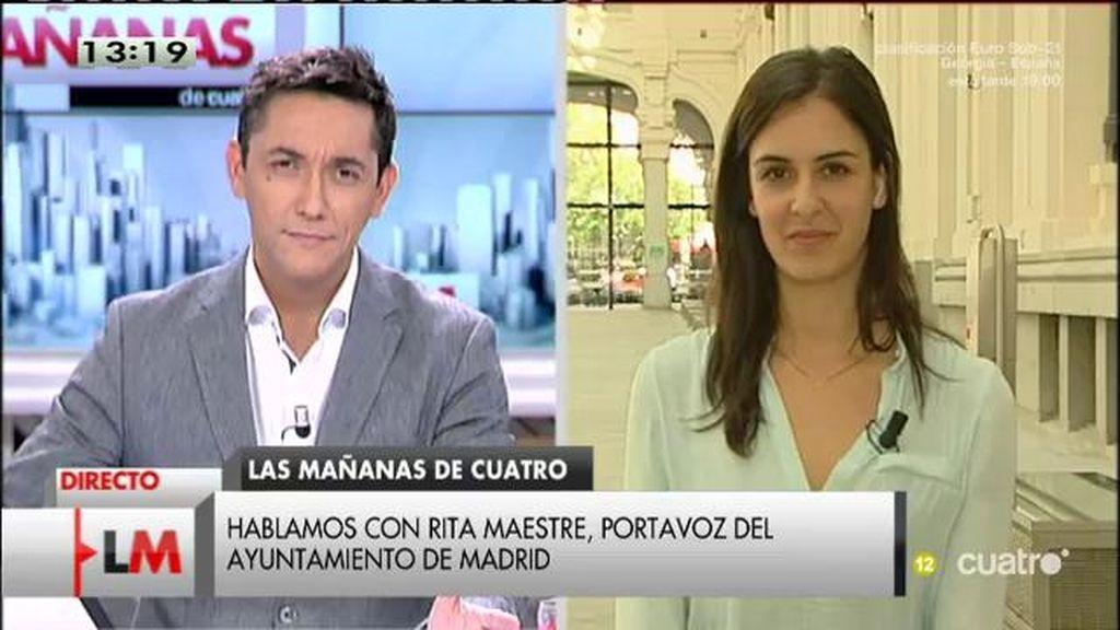 """Rita Maestre, tras la declaración de Guillermo Zapata: """"Parece evidente que hay intereses políticos detrás"""""""