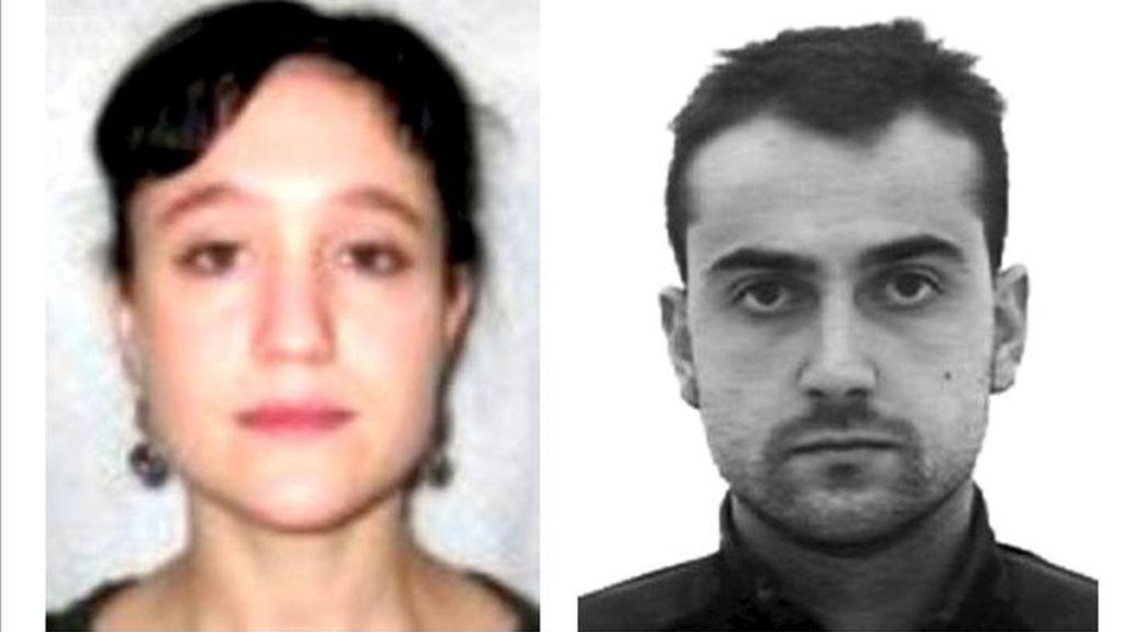 Combo fotográfico facilitado por el Ministerio del Interior de Itziar Moreno (i) y Oier Gómez, los dos presuntos miembros de ETA detenidos en Francia. EFE/Archivo