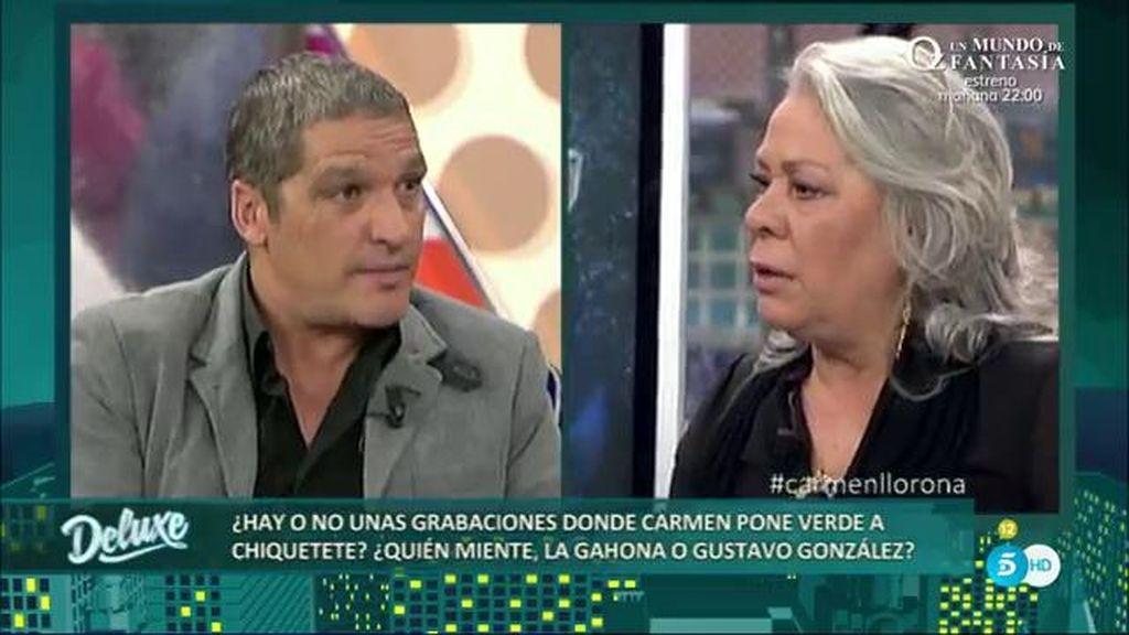 "Gustavo, a Carmen Gahona: ""Si saco lo que tengo de ti, se te cae la careta"""