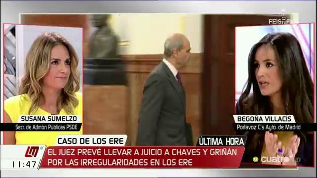 "Susana Sumelzo (PSOE): ""Chaves y Griñán asumieron responsabilidades políticas"""