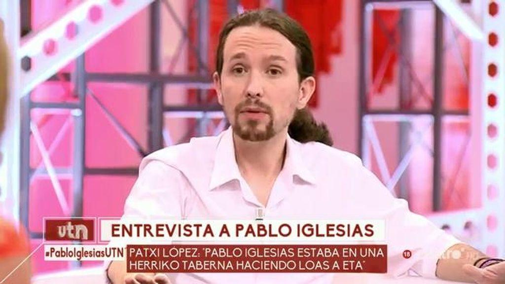 """Pablo Iglesias: """"Soy de izquierdas y se me nota, pero no quiero solo el voto de esa etiqueta"""""""
