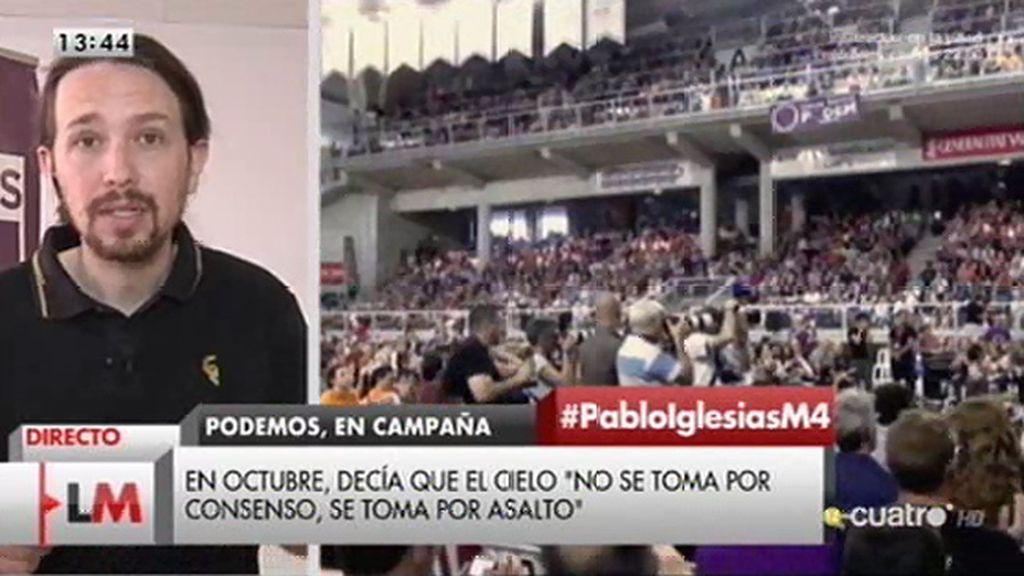 """P. Iglesias: """"No nos hemos moderado, otra cosa es que nuestras propuestas sean de sentido común"""""""