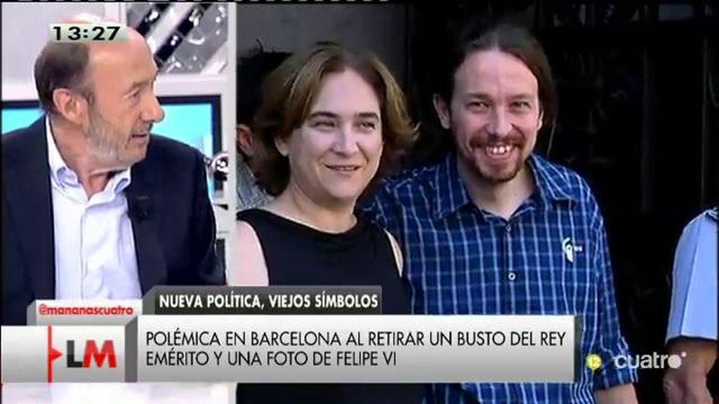 """Rubalcaba, de la retirada del busto de Juan Carlos I: """"Esto de vendernos que es un debate ¡Qué demonios, pretendías una foto!"""""""