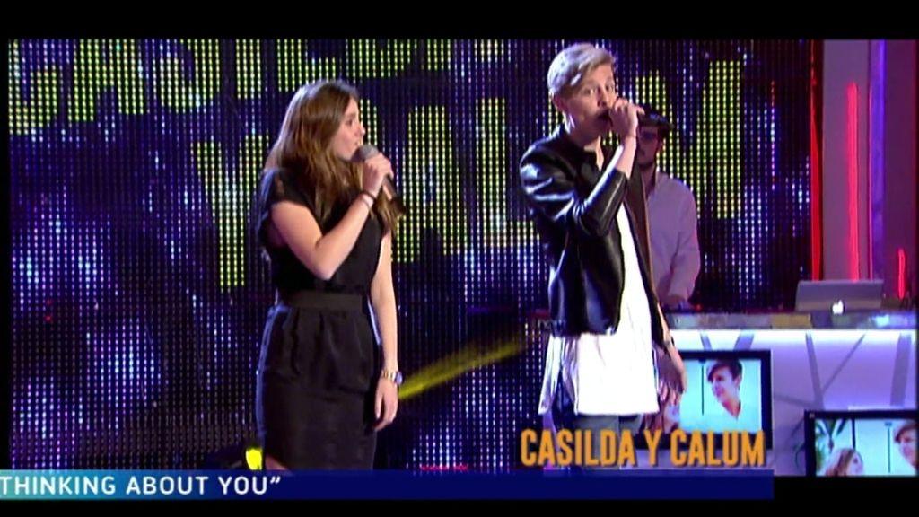 Casilda y Calum interpretan su primer single juntos, 'Can't stop thinking about you'