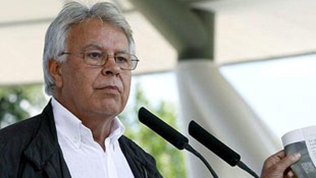 Felipe González, ex presidente del Gobierno, aconseja a Alfredo Pérez Rubalcaba. Vídeo: ATLAS