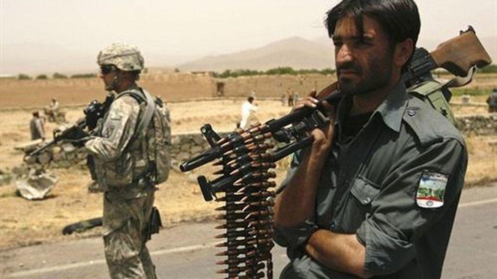 Policías afganos entrenados por EEUU. Foto: Reuters