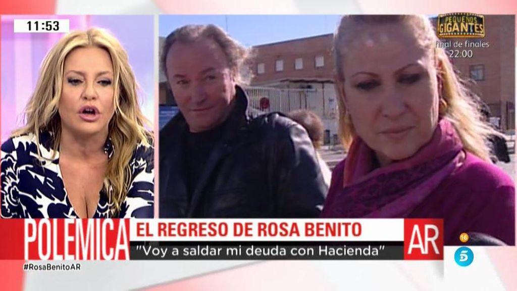 Rosa Benito ha vuelto a 'Sálveme' porque le apetece y está fuerte, según C. Tárrega