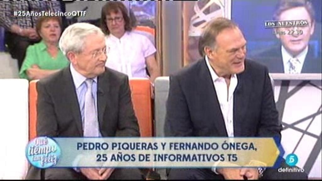 Pedro Piqueras y Fernando Ónega, 25 años de Informativos Telecinco