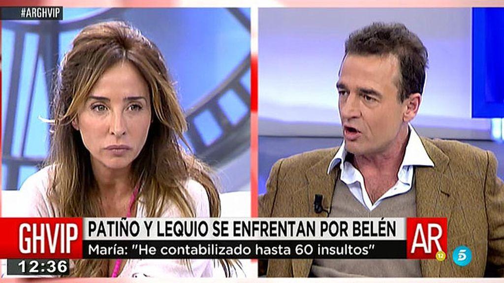 María Patiño y Alessandro Lequio, enfrentados por Belén Esteban