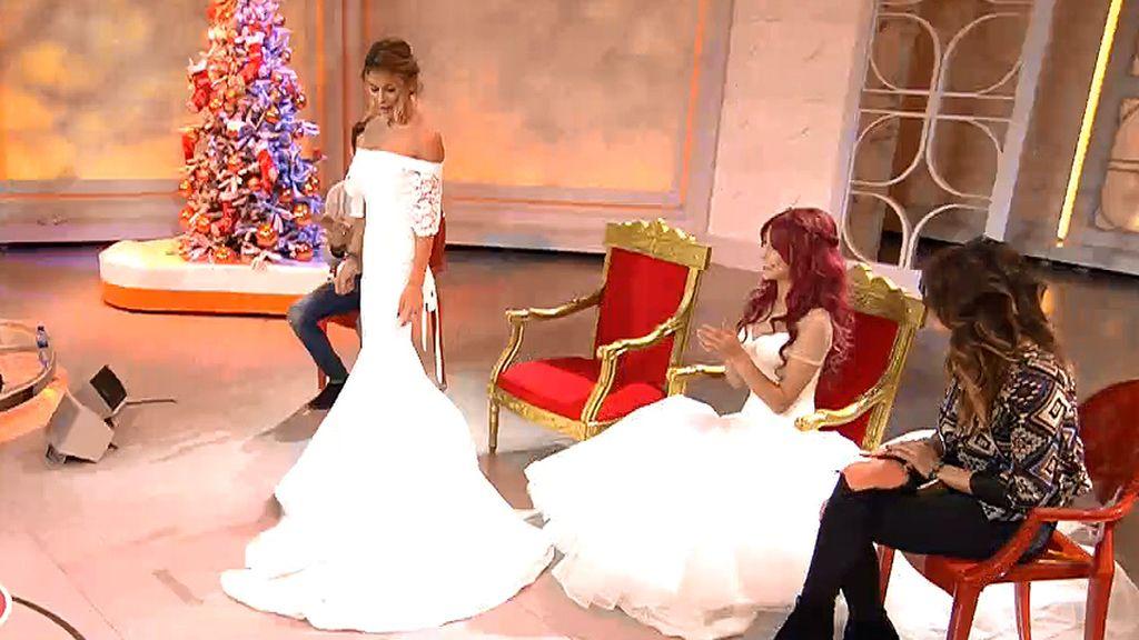 Rym y Claire deslumbran el plató de 'Myh' vestidas de novias
