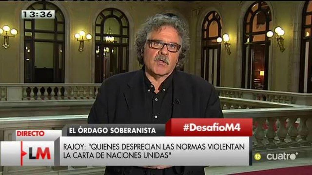 """Joan Tardà (ERC): """"No vamos a desviarnos ni un centímetro del contrato que hemos establecido con la ciudadanía catalana"""""""
