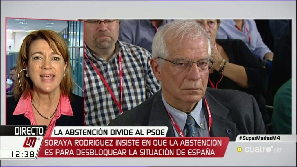 """Soraya Rodríguez, tajante: """"Todo el grupo socialista va a decir no al PP"""""""