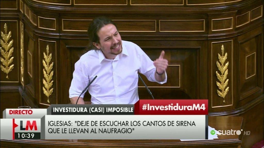 """Pablo Iglesias, a Sánchez: """"En materia tributaria, su capitulación frente a la 'naranja mecánica' es sonrojante"""""""