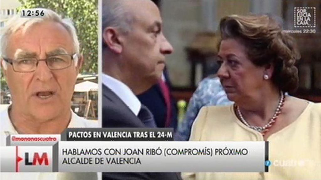 """J. Ribó (Compromís): """"Barberá tiene un síndrome un poco parecido al de Aguirre"""""""